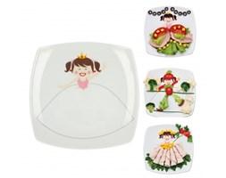 Ceramiczny talerzyk deserowy CERAMIKA TUŁOWICE KSIĘŻNICZKA 19 x 19 cm - rabat 10 zł na pierwsze zakupy!
