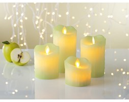 Świece woskowe LED o zapachu jabłka 4szt