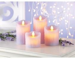Świece woskowe LED o zapachu lawendy 4szt
