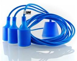 Nowoczesne oświetlenie lampa wisząca niebieska 3x2,5m