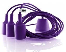 Oświetlenie dekoracyjne kable w oplocie fioletowym 3x2,5m