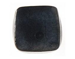 Kwadratowa gałka z nóżką - czarna