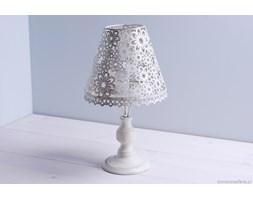 Świecznik metalowa lampa - kwiaty duży