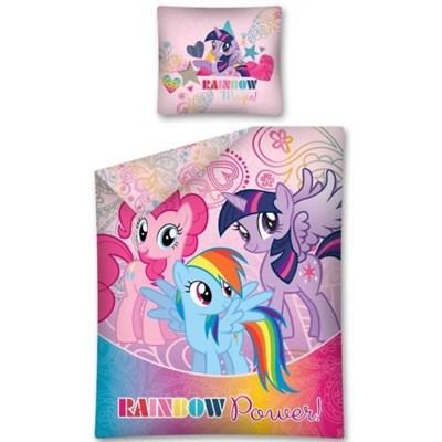 Dekoria Komplet pościeli My Little Pony Rainbow, poszwa 160x200cm, poszewka 70x80cm