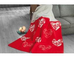 Koc Romantic czerwony 150x200