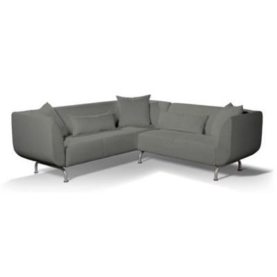 Dekoria Pokrowiec na sofę narożną 3+2 Stromstad, szary a'la filc, Sofa narożna 3+2 Stromstad, Cardiff