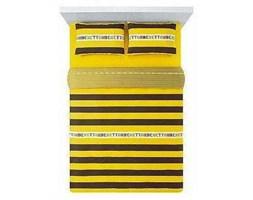 Pościel Benetton Super Stripes Brązowo-Żółta