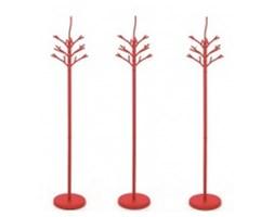 Wieszak Tree czerwony na ubrania w kształcie drzewa