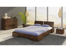 Argento niskie łóżko sosnowe ze stelażem 160x200 cm