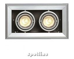 Lampa ścienna do wbudowania - Spotline - AIXLIGHT MOD 2 MR16, srebrna