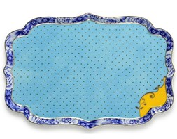 BL Royal Blue 26x18x1.5cm serving dish