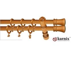 """Karnisze Drewniane / Karnisz drewniany """"VILLA"""" Ø27/27 Imbir"""