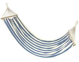Hamak bawełniany, niebiesko-kremowy 83009