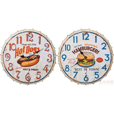 Kare Design Fast Food Zegar Ścienny Różne Wersje - 35960