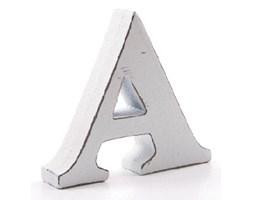 Litera dekoracyjna mała - A - biała