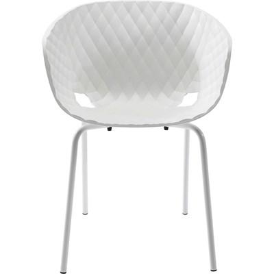 Kare Design Radar Bubble Białe Krzesło Z Podłokietnikami Tworzywo Sztuczne - 79073