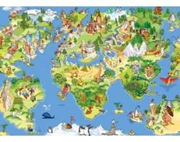 Mapa Świata dla dziecka - fototapeta