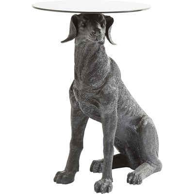 Kare Design Dog Black Stolik Kawowy Czarny, Szkło Tworzywo Sztuczne  - 79185