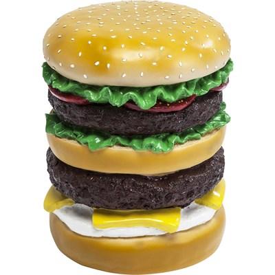 Kare Design Hamburger Stołek Tworzywo Sztuczne, Ręcznie Malowany - 79191