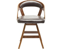 Kare Design Manhattan Krzesło Brązowe Skóra Ekologiczna Drewno - 79234