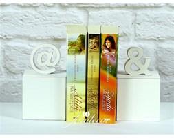 Podpórki do książek ze znakiem & i @ białe