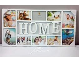 Ramka na zdjęcia HOME (biała, plastik)