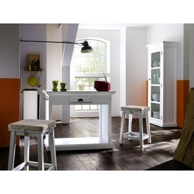 Dekoria Komplet Milton - wyspa kuchenna z 2 krzesłami i poduszkami, 105x85x50cm