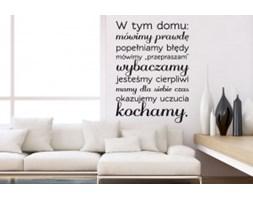 Naklejka na ścianę NSCY004-3 - Napis: W tym domu...