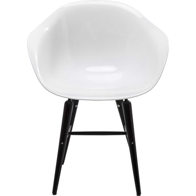 Kare Design Black Forum Matt Krzeslo Biale Matowe Drewno Plastik - 79433