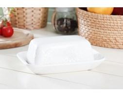 Maselniczka ceramiczna KORONKA -- biały - rabat 10 zł na pierwsze zakupy!
