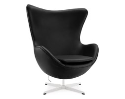 Egg Chair with piping black