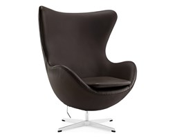 The Egg chair dark brown without piping
