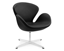Swan Chair with piping black