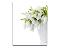 Kwiaty w białym wazonie, Obraz na płótnie - Canvas