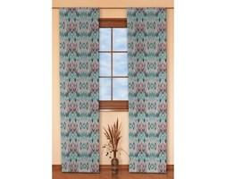Dekoria Zasłony panelowe 2 szt., zygzaki w kolorystyce turkusowo-różowo-szarej, 60 x 260 cm, Summer