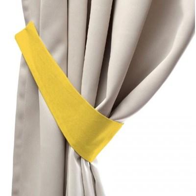 Dekoria Podwiązka Victoria, żółty , 12 x 70 cm, Loneta