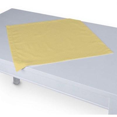 Dekoria Serweta, białe kropeczki na żółtym tle, 60 x 60 cm, Ashley
