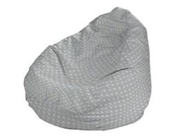Dekoria Pokrowiec na worek do siedzenia, białe gwiazdki na szarym tle, worek Ø60x105 cm, Ashley