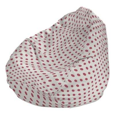 Dekoria Pokrowiec na worek do siedzenia, malinowe kropki na białym tle, worek ?60x105 cm, Ashley