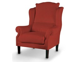 Dekoria Fotel, czerwony szenil z wplecioną czarną nitką, 63x115 cm, Living