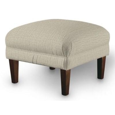 Dekoria Podnóżek do fotela, szaro-beżowy szenil, 56x56x40 cm, Living