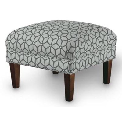 Dekoria Podnóżek do fotela, brązowo-beżowe wzory, 56x56x40 cm, Rustica nowość