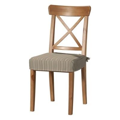 Dekoria Siedzisko na krzesło Ingolf, pasy cappuccino, krzesło Inglof, Victoria