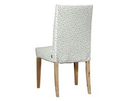 Dekoria Sukienka na krzesło Henriksdal krótka, turkusowo-zielone kwiatuszki na jasnym tle, krzesło Henriksdal, Amelie