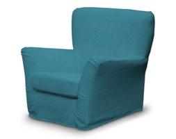 Dekoria Pokrowiec na fotel Tomelilla z zakładkami, turkus, fotel Tomelilla, Etna
