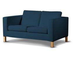 Dekoria Pokrowiec na sofę Karlanda 2-osobową nierozkładaną, krótki, Ocean Blue (morski niebieski), Sofa Karlanda 2-os, Cotton Panama