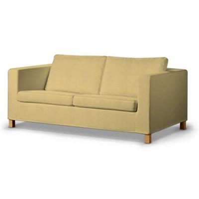 Dekoria Pokrowiec na sofę Karlanda rozkładaną, krótki, piaskowo-beżowy szenil, Sofa Karlanda rozkładana, Living