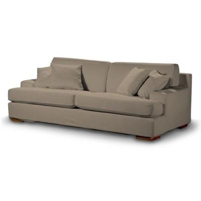 Dekoria Pokrowiec na sofę Göteborg nierozkładaną, Grey Brown (szary brąz), Sofa Göteborg nierozkładana, Cotton Panama