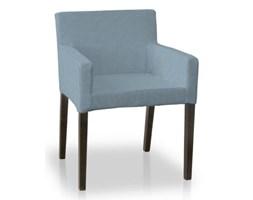 Dekoria Sukienka na krzesło Nils, krateczka turkusowo-biała, krzesło Nils, Amelie