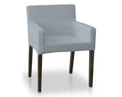 Dekoria Sukienka na krzesło Nils, paseczki biało-turkusowe, krzesło Nils, Amelie